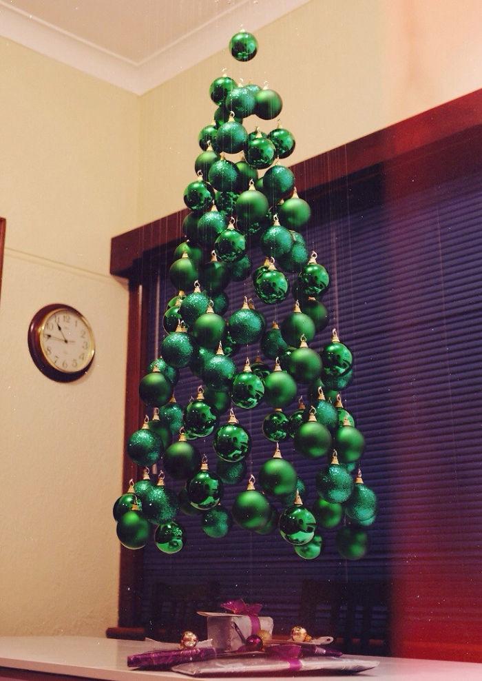 rbol de navidad flotante - Arbol De Navidad Casero