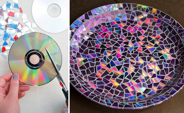 21 ideas brillantes para reciclar tus viejos cds en casa for Ideas para decorar la casa reciclando
