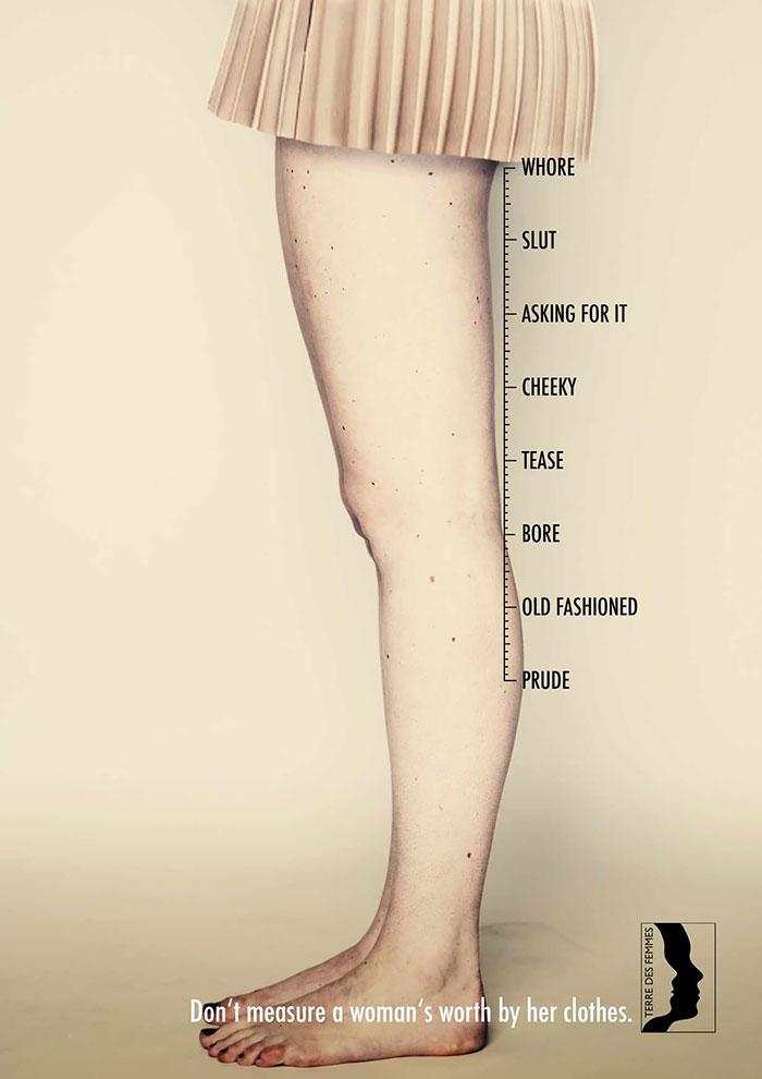 No se mide el valor de una mujer por su ropa