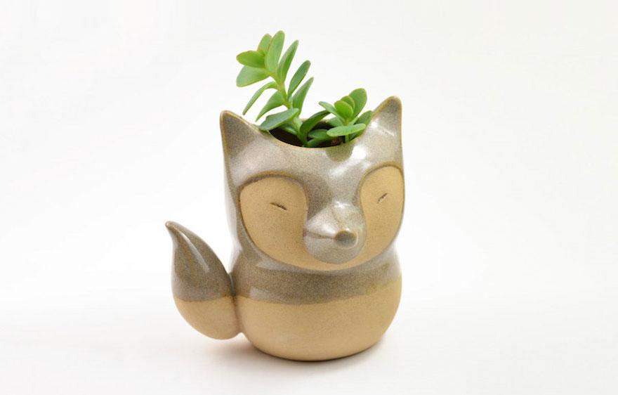 estas pequeñas macetas animales protegerán tus plantas | bored panda