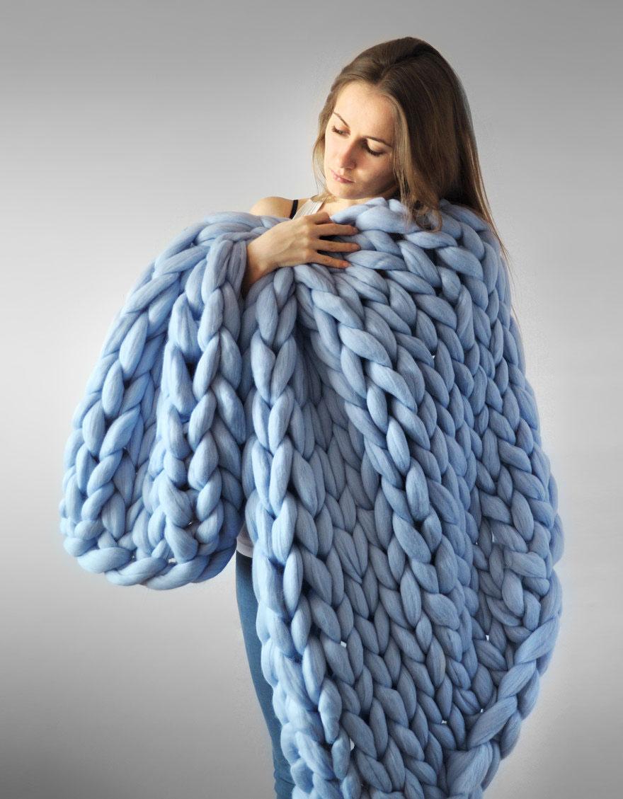 Tejidos extremadamente robustos que parecen hechos por gigantes bored panda - Aiguille a tricoter geante ...