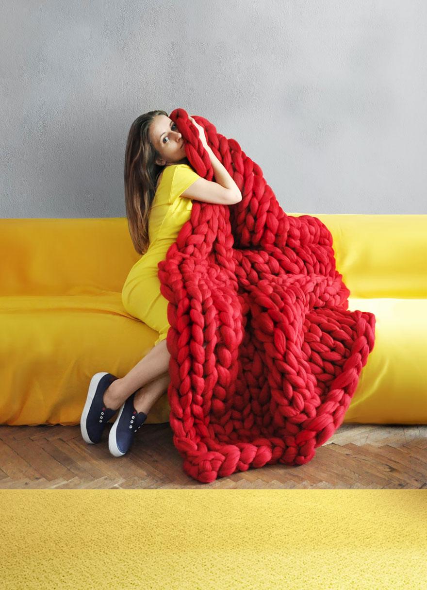 Tejidos extremadamente robustos que parecen hechos por for Mantas de lana hechas a mano