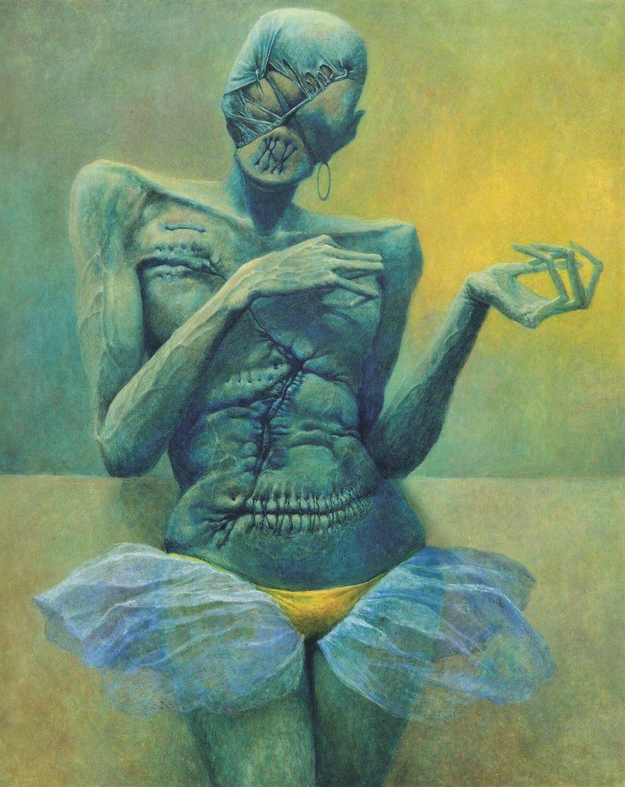 Resultado de imagen para pinturas de polaco surrealista