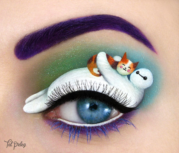===Arte en los ojos=== Arte-maquillaje-ojos-tal-peleg-2