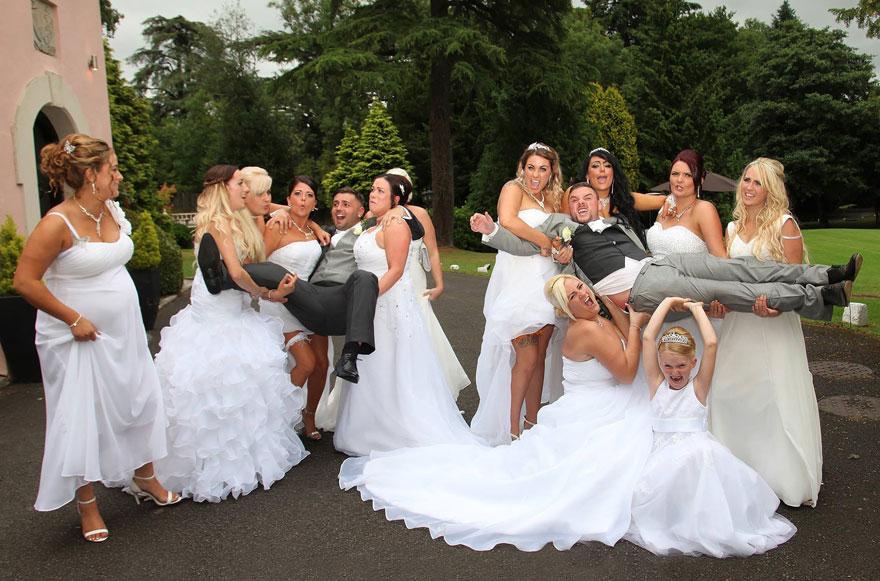 Esta pareja gay pidió a todas sus damas de honor que llevaran ...