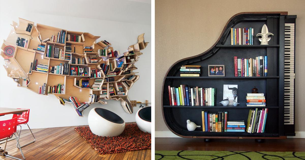 20 estanter as de lo m s creativas para tus libros bored for Estanterias para libros
