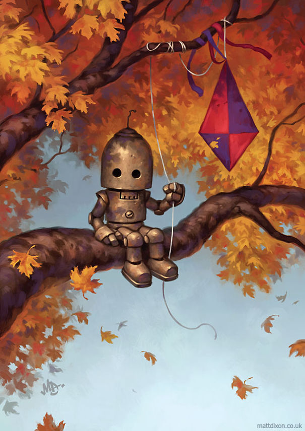 Pinturas-de-robots-solitarios-contemplando-el-mundo (11)