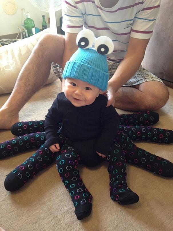 17 disfraces de Halloween para bebs tan adorables que asustan
