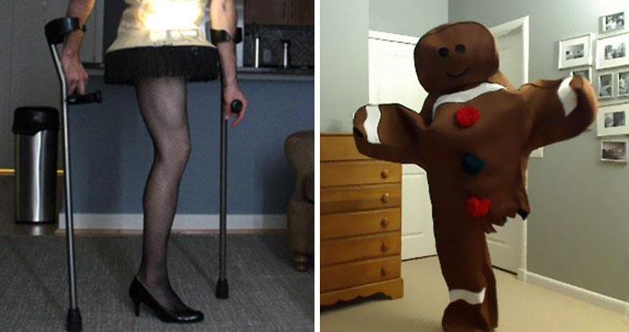 Este hombre con una sola pierna prepara un disfraz cada Halloween y acaba de mostrar su última idea