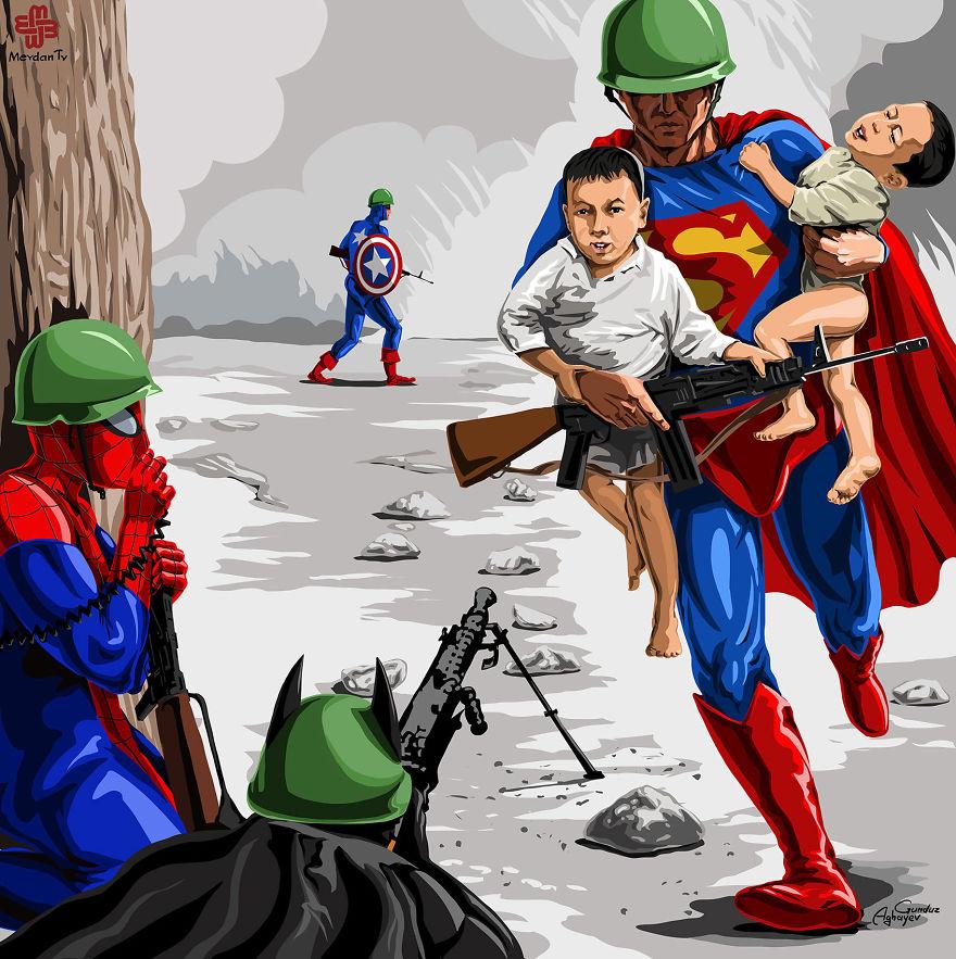 Fotos De Niños En La Guerra Convertidas en Alegres Imagenes