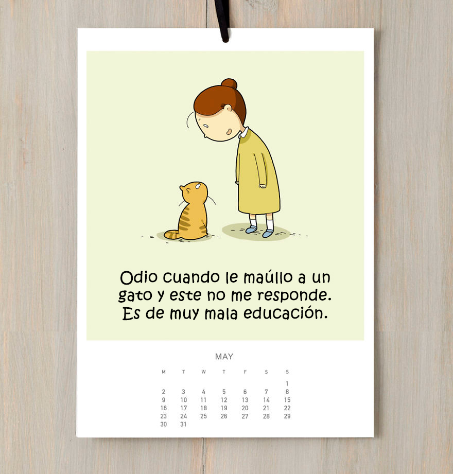 He creado un calendario de gatos para que sonrías todo el 2016