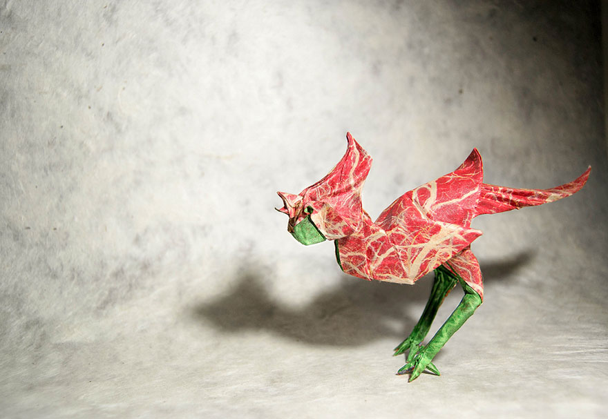 Increíbles obras de origami creadas por el artista Gonzalo Gª Calvo