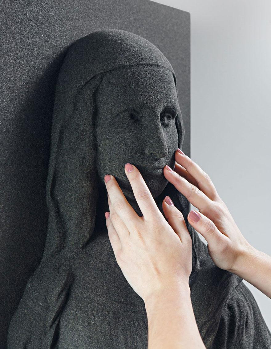 """Estas pinturas clásicas han sido impresas en 3D para que los ciegos puedan """"verlas"""""""