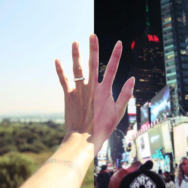 Esta pareja en una relación a distancia conecta creando fotos combinadas de los dos