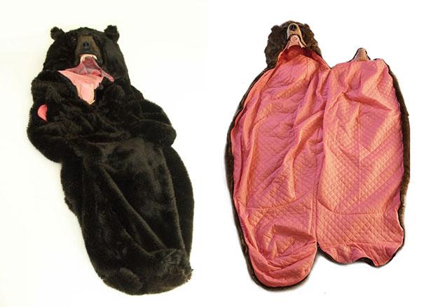 Con este saco de dormir en forma de oso nadie te despertará, puedes estar tranquilo