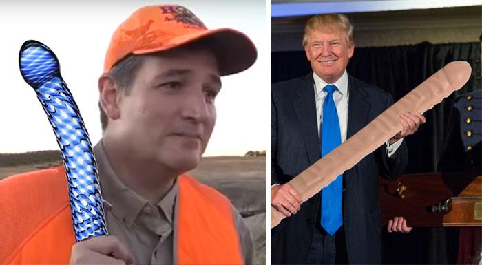 Este hombre cambia las armas por consoladores en las fotos de políticos republicanos americanos