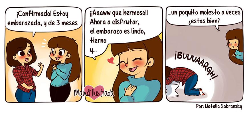 Mamá Ilustrada: Ilustradora argentina crea tiernas historietas sobre su maternidad