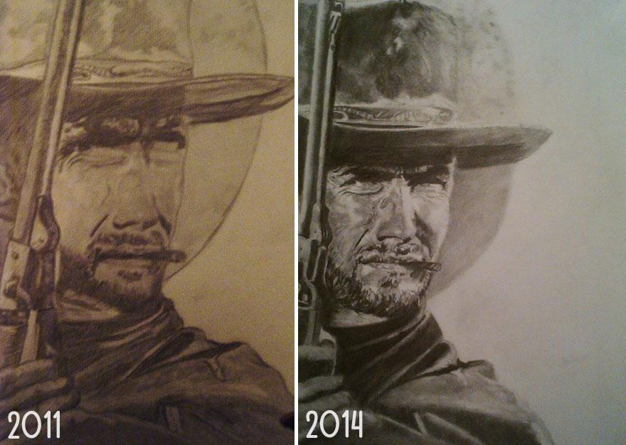 10 Dibujos antes y después que muestran cómo la practica hace la perfección