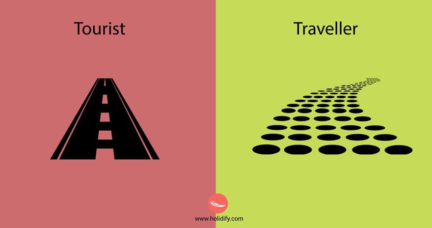 10 diferencias entre turistas y viajeros