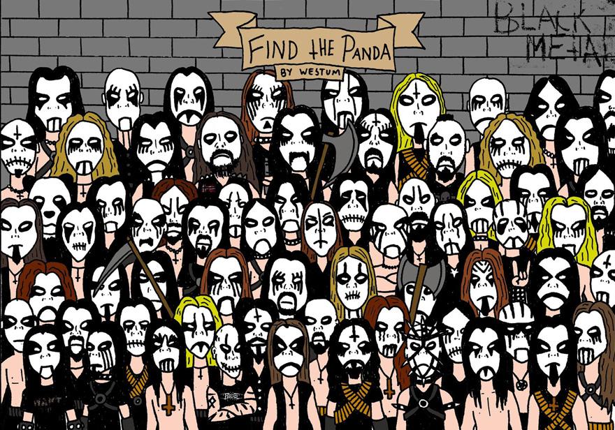 Encontrar un panda entre una horda de blackmetaleros es casi imposible