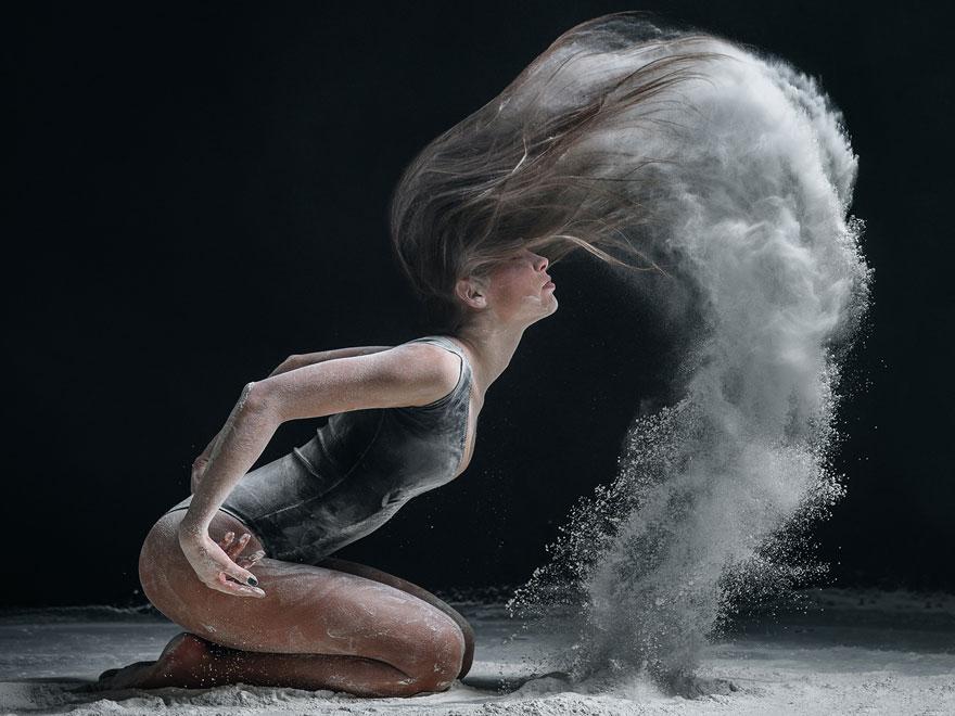 Explosivos retratos de danza con harina, por Alexander Yakovlev (2ª parte)