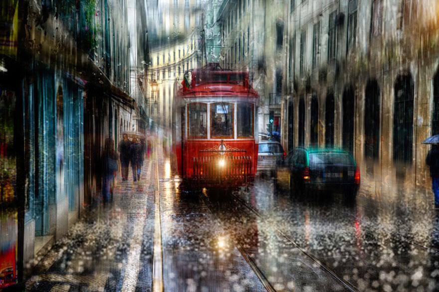 Estas fotos lluviosas de calles rusas parecen pinturas al óleo