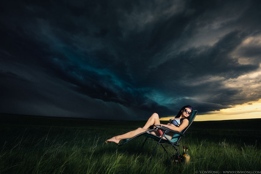 Mi novia me convenció para ir a perseguir tormentas