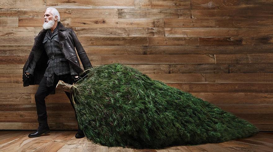 Este Papá Noel a la moda derretirá la nieve esta Navidad