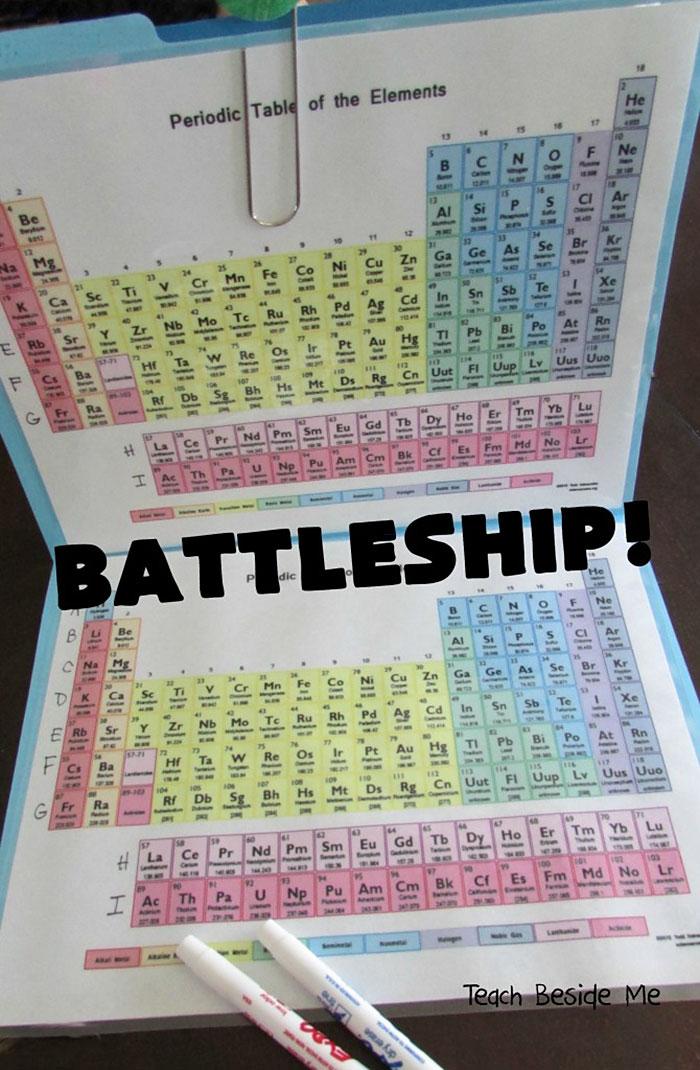 Esta madre recrea el juego batalla naval con la tabla peridica para batalla naval tabla periodica quimica karyn tripp 4 urtaz Images