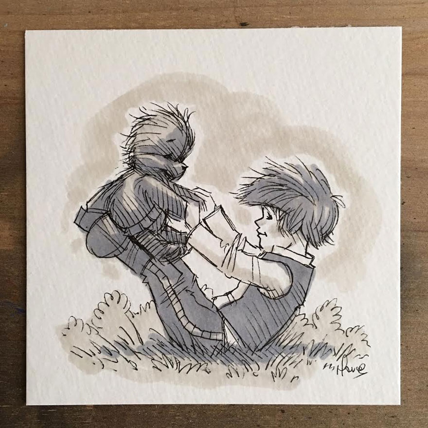 dibujos-mezcla-winnie-pooh-guerra-galaxias-james-hance (4)