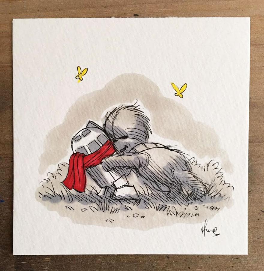 dibujos-mezcla-winnie-pooh-guerra-galaxias-james-hance (7)