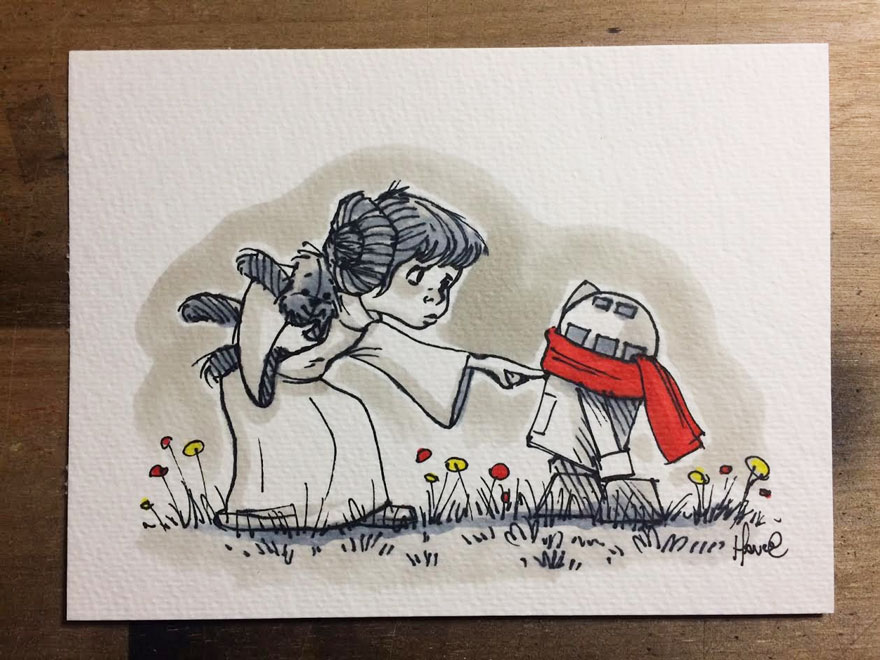 dibujos-mezcla-winnie-pooh-guerra-galaxias-james-hance (9)
