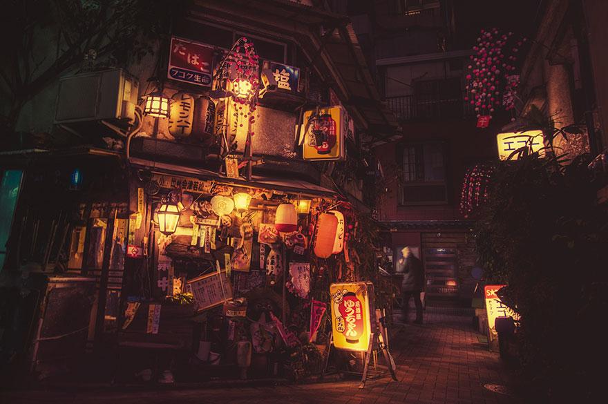 Mágicas fotos nocturnas de las calles de Tokyo, por Masashi Wakui