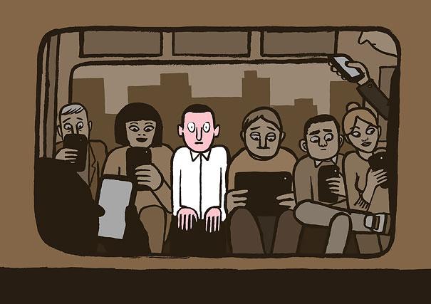 ......Ilustrando la reaidad..... - Página 2 Ilustraciones-satiricas-adiccion-tecnologia-3