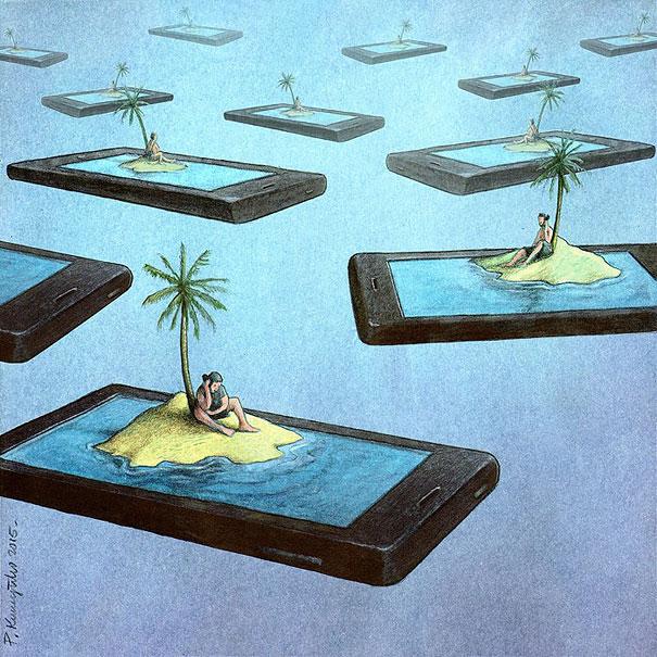 ......Ilustrando la reaidad..... - Página 2 Ilustraciones-satiricas-adiccion-tecnologia-8