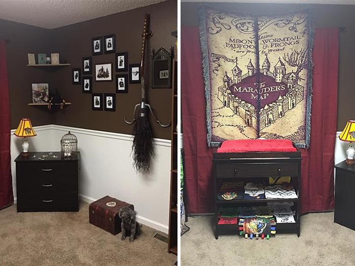 estos padres crearon una habitaci n de harry potter para