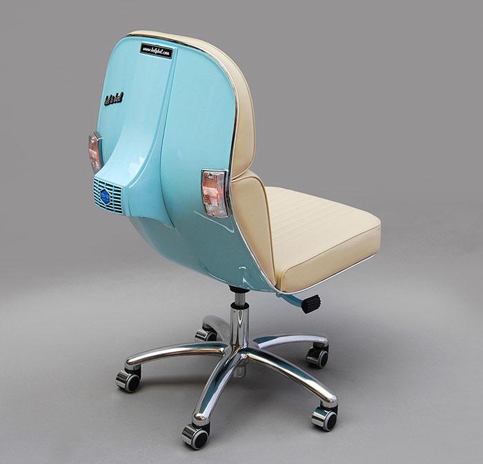 viejas motos vespa convertidas en modernas sillas de On silla vespa