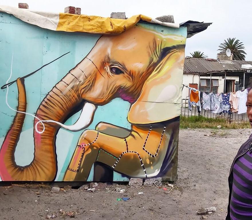 arte-urbano-elefantes-interactivos-falko-sudafrica (7)