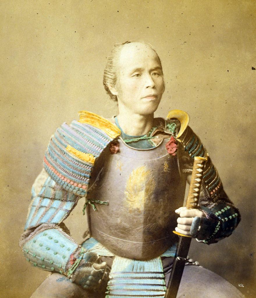 Los últimos samuráis en curiosas fotos del siglo XIX