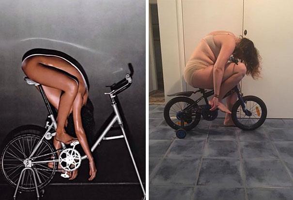 Esta comediante recrea de forma divertida las fotos de Instagram de los famosos (Parte 2)