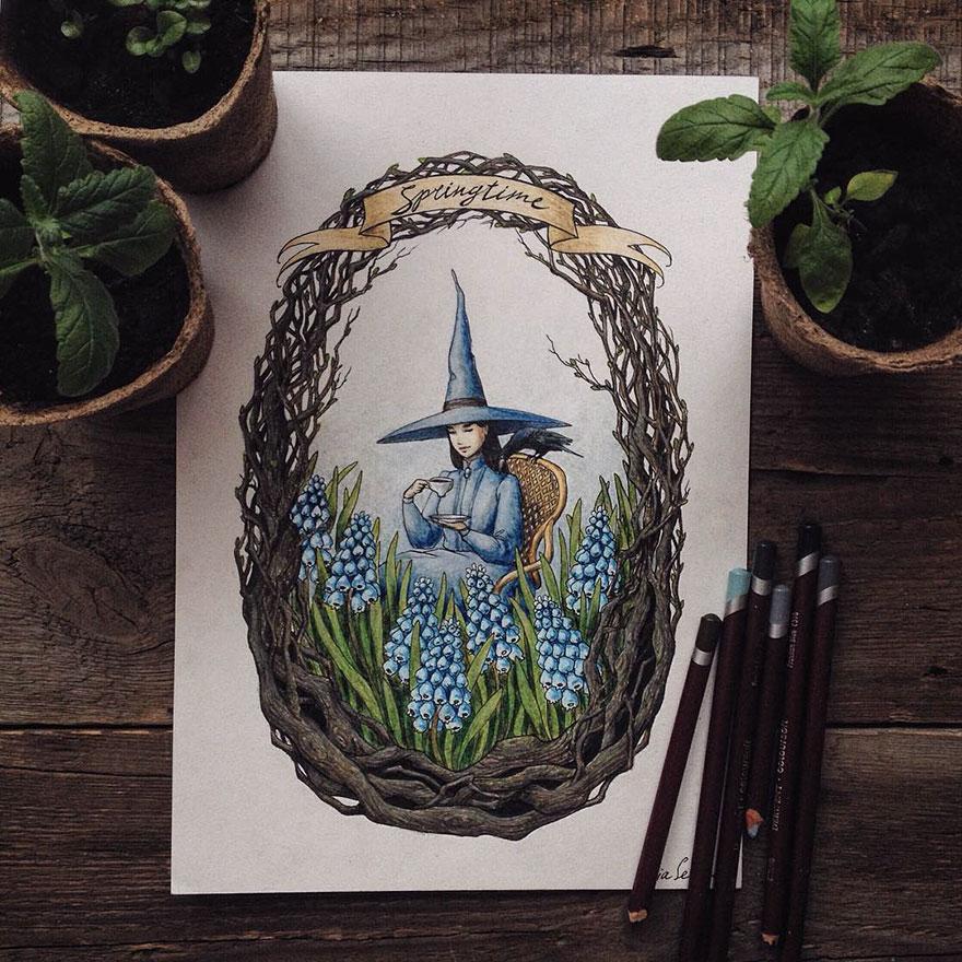 ilustraciones-cuentos-hadas-lapices-colores-lia-selina (11)