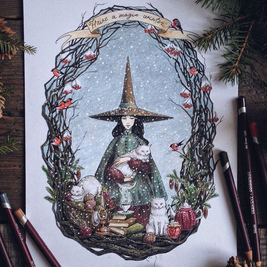ilustraciones-cuentos-hadas-lapices-colores-lia-selina (12)