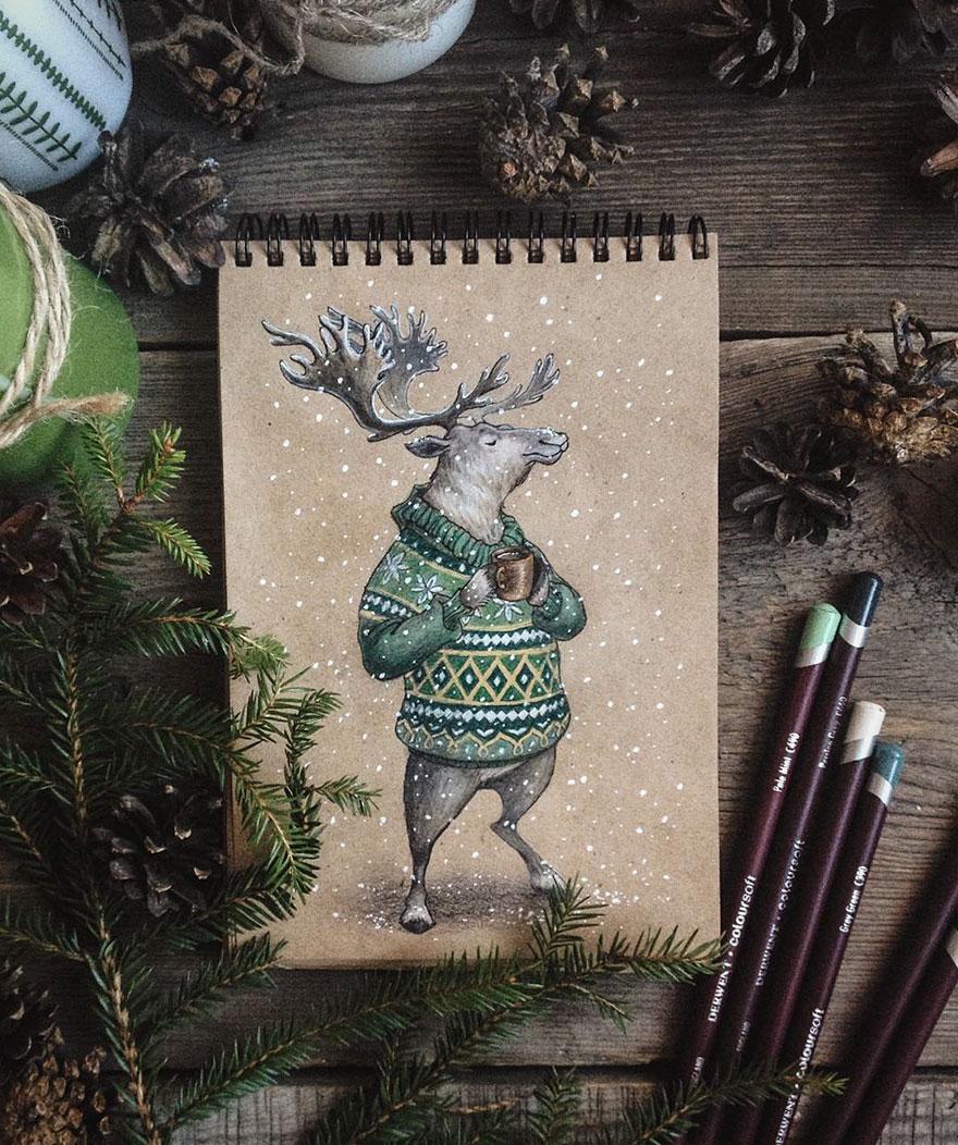 ilustraciones-cuentos-hadas-lapices-colores-lia-selina (15)