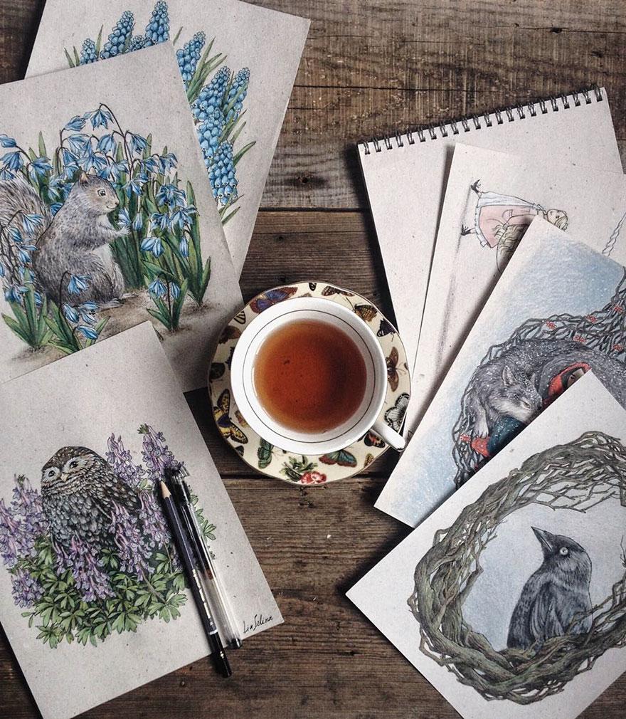 ilustraciones-cuentos-hadas-lapices-colores-lia-selina (2)