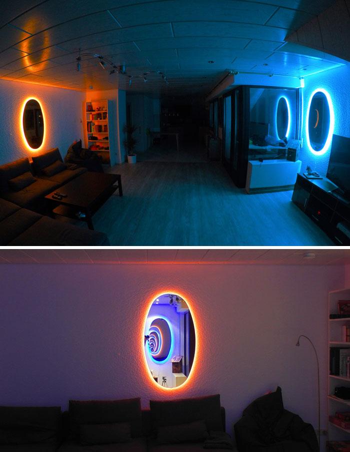 Estos espejos de Portal son la forma más genial de decorar tu habitación