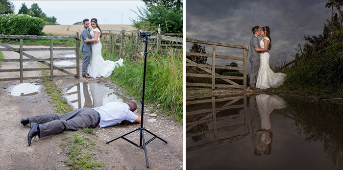 15 Fotógrafos de bodas locos que hacen lo que sea por la foto perfecta