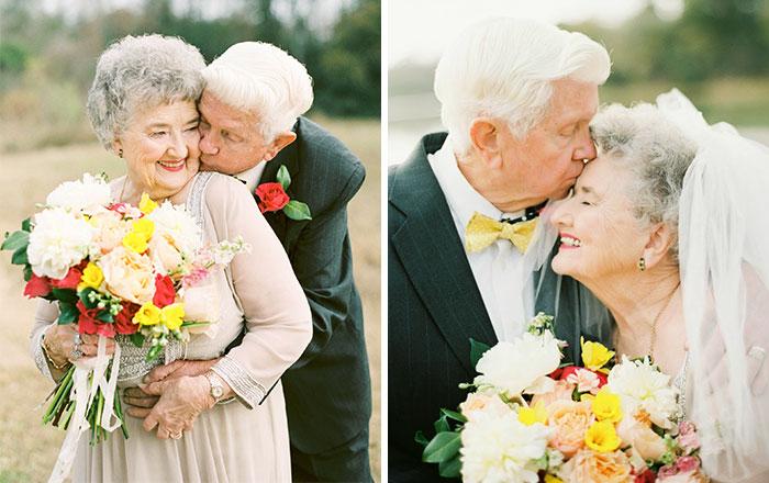 Resultado de imagen de boda de abuelos