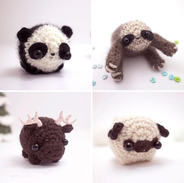 Animales de ganchillo en miniatura, por Mohustore