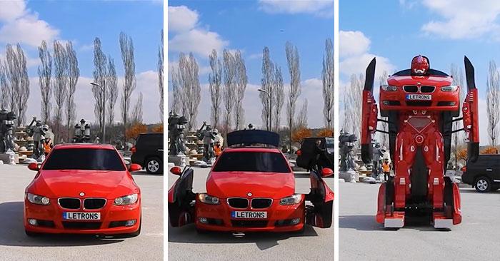 Estos ingenieros turcos han creado un transformer real con un BMW (Vídeo)