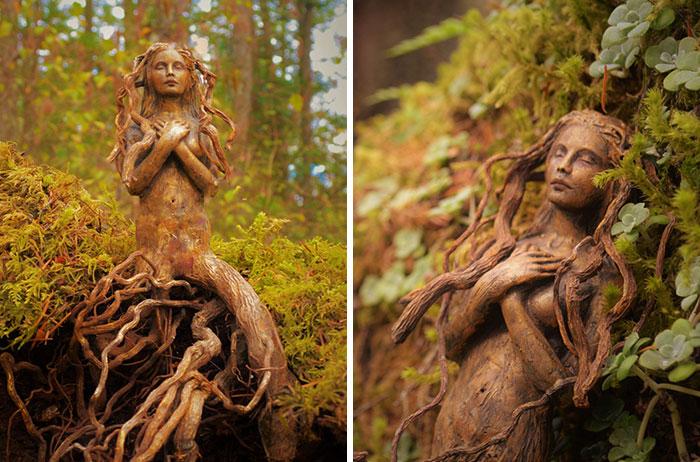10 Increíbles esculturas hechas con madera a la deriva que cuentan las historias olvidadas del océano